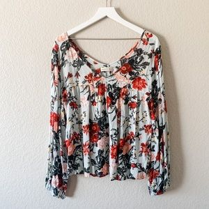 Abercrombie and Fitch Floral Long Sleeve Top, M